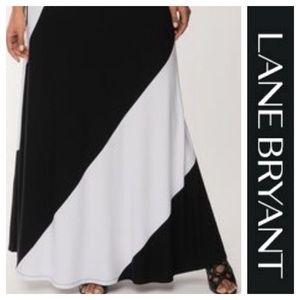 Lane Bryant color block maxi skirt. Size 18 / 20